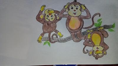 3 monkeys of Gandhijii
