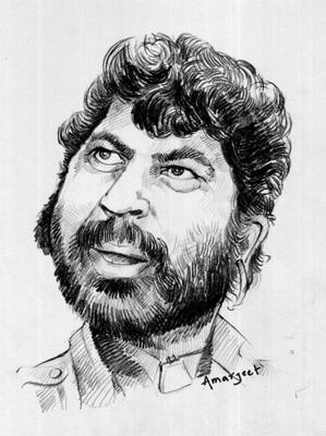 caricature of gabbar