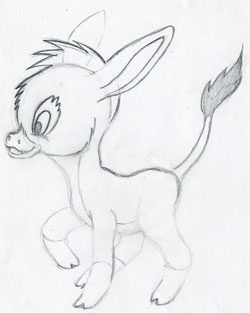 Let S Draw Cartoon Donkey Cute And Lovely Few Easy Steps
