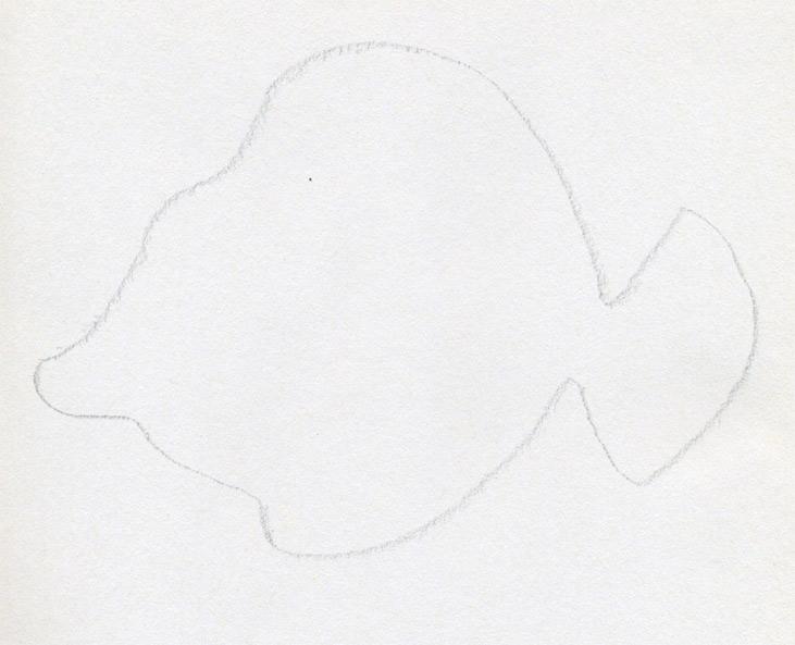 Cartoon simple fish for Cartoon fish drawing