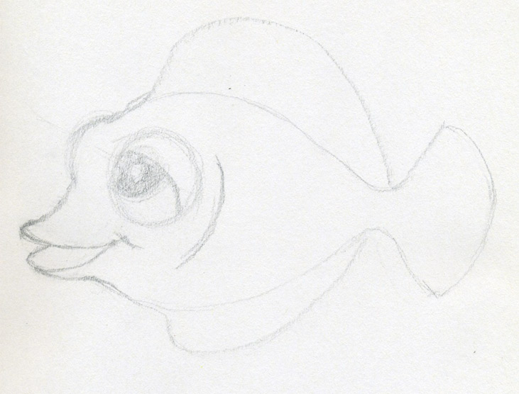 cartoon eyes drawing. Real cartoon fish drawing