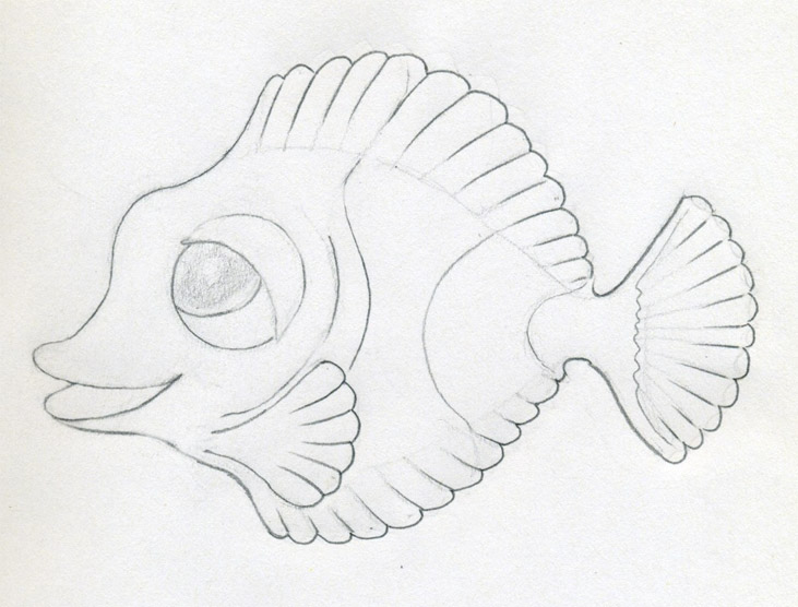 Mulberry for Cartoon fish drawing