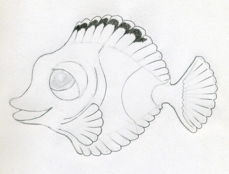 Fishes Pencil Drawing Your Cartoon Fish Drawing