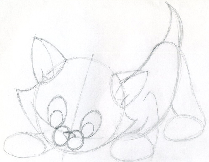 how to draw cartoon kitten easily and effortlessly in few simple steps