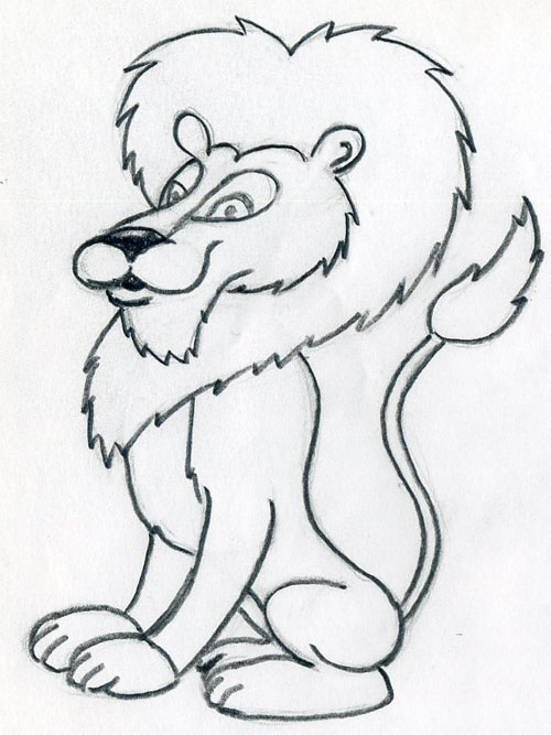 How To Draw Cartoon Lion In Few Easy Steps