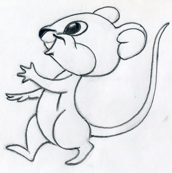 Mouse Outline Drawing Click The Image to Enlarge