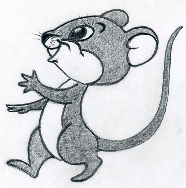 How to draw cartoon mouse