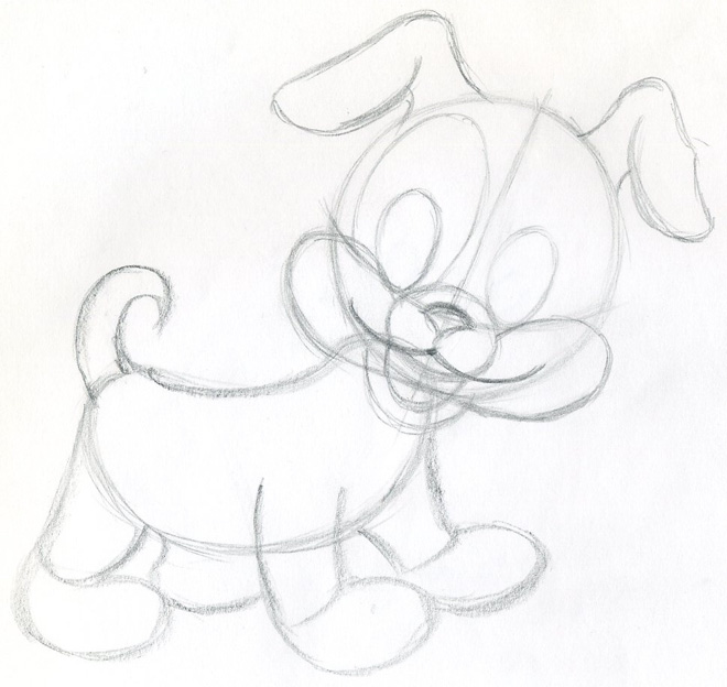 Draw Cartoon Puppy Very cute