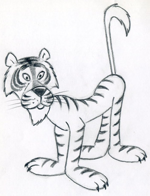How To Draw Cartoon Tiger In Few Easy Steps