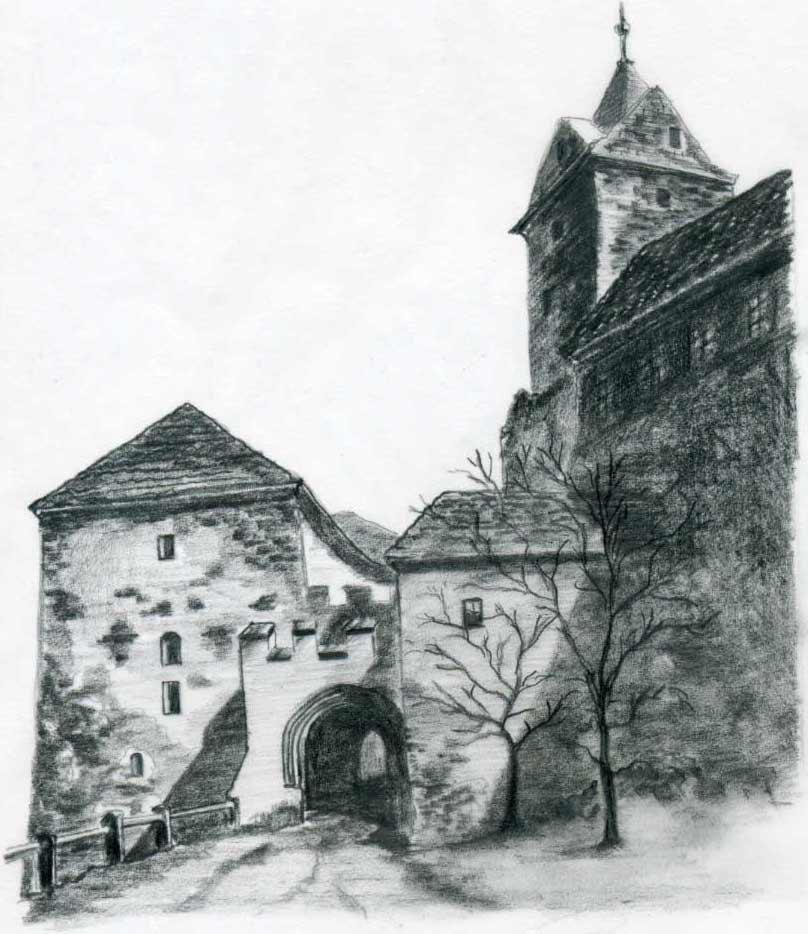 Castle Scenery Drawing Last Step is to Finish The