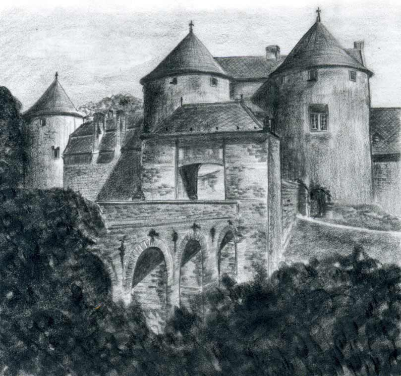 Medieval Castles Drawings With Labels