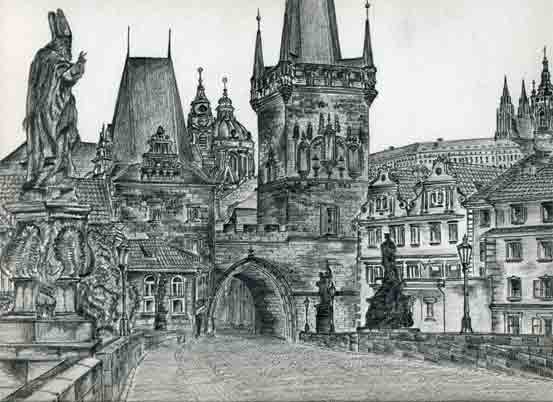 castle drawings sketches easy draw prague inspiration stone fun czech