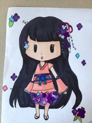 Chibi flower girl