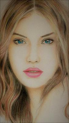 Color pencil portrait drawing
