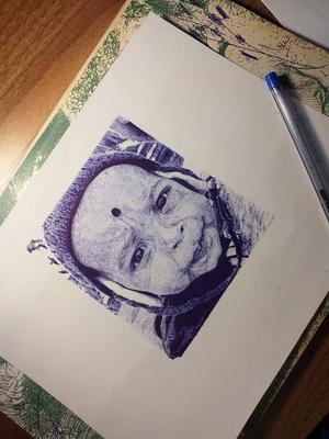 Completed art with ballpoint pen2