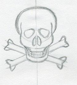Easy Skull Drawings