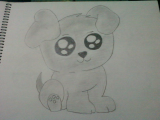 Dog drawing easy cute - photo#7