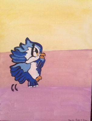 Cute little bluebird