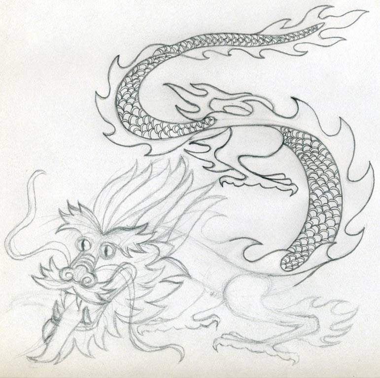 Chinese Fire Dragon Drawings Your Dragon Drawing Starts to