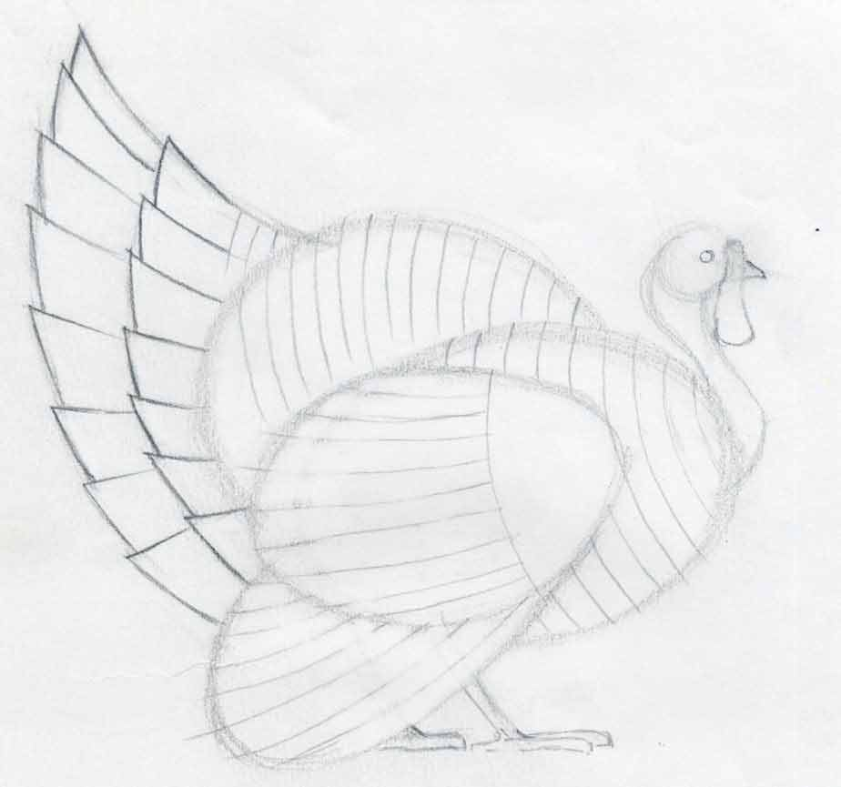 Uncategorized Simple Drawing Of A Turkey how to draw a turkey in pencil sketch out the shape of both legs