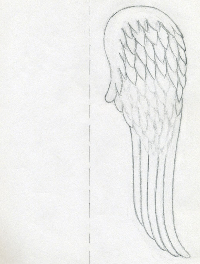 Angel Wings Drawings
