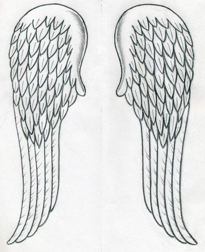 How to draw angel wings quickly in few easy steps for Easy to make sketches