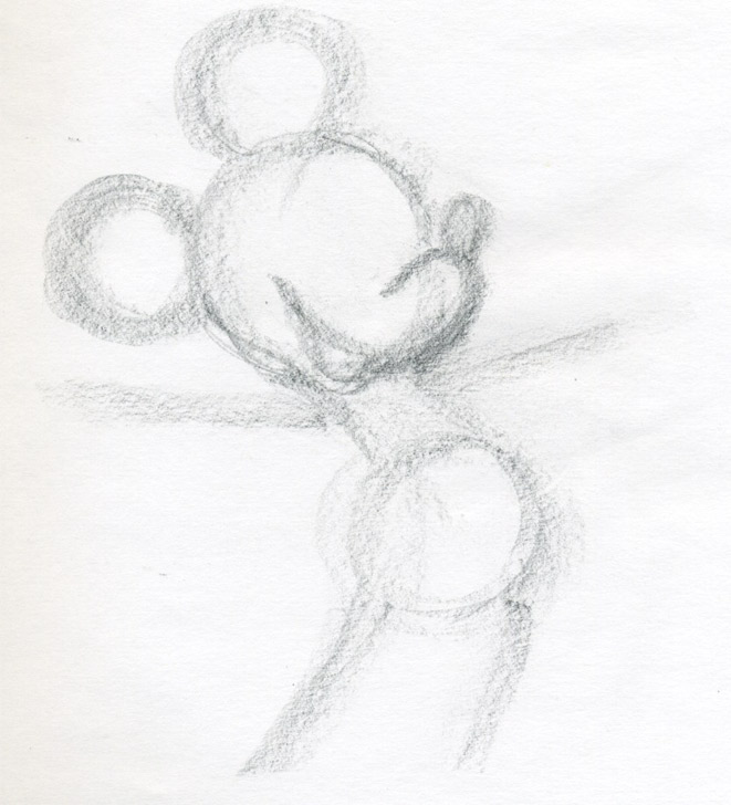 Draw mickey mouse for Easy to make sketches