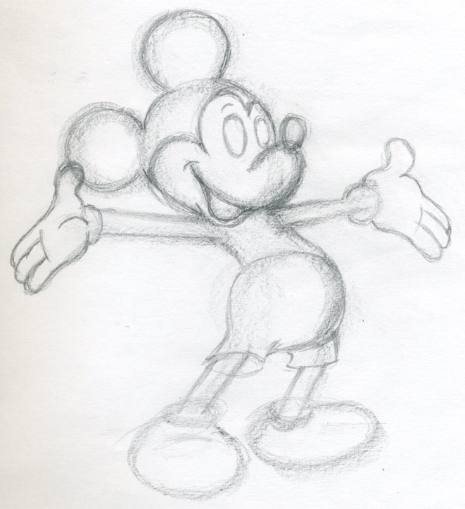 Mouse Outline Drawing Draw Mickey Mouse to See