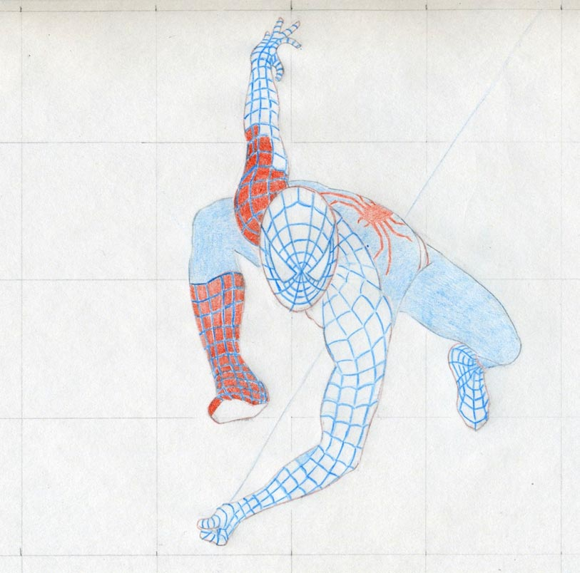 Draw Spiderman In Action