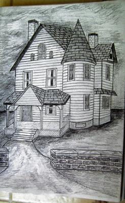 Drawing of a house I drew