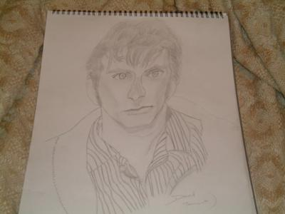 Drawing of David Tennant as the 10th Dr