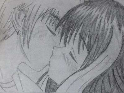 Kissing Drawing Drawing of Kiss