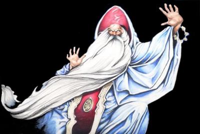 Wizard drawn in Color Pencils by Bill Richards