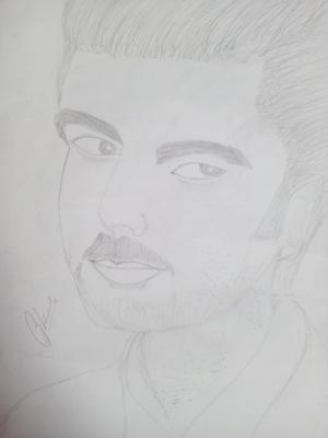 Pencil sketch of Arjun kapoor