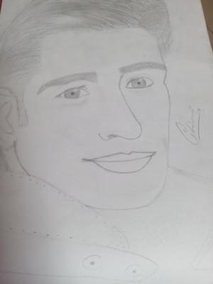 Pencil sketch of sidharth kapoor