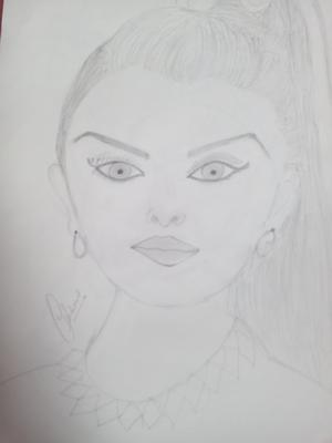 Pencil sketch of Aishwriyamam