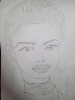 Priyanka chopda pencil sketch