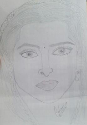 Easy pencil sketch of Bollywood actress ( krishma kapoor)