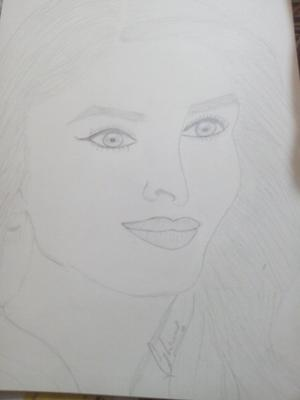 Pencil sketch of Bollywood actress