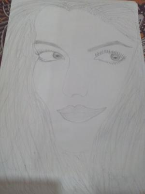 Easy pencil sketch of Bollywood actress
