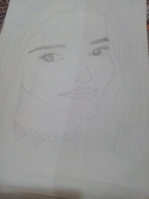 Easy pencil sketch of girl
