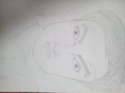 Pencil sketch of amirkhan (pk movie )