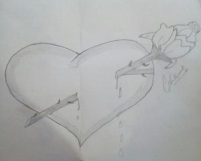 Easy pencil sketch of heart