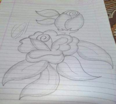 Easy pencil sketch of rose