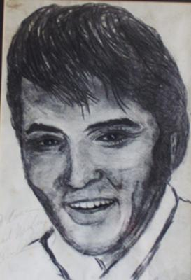 Elvis a signed Portrait
