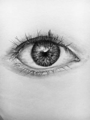 eye pencil sketch