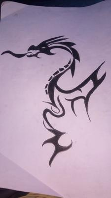 First drawing of dragon