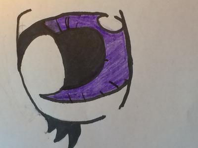 First manga eye drawing