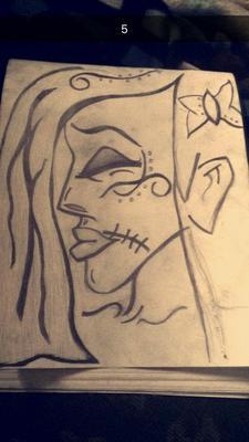 Girl skeleton portrait