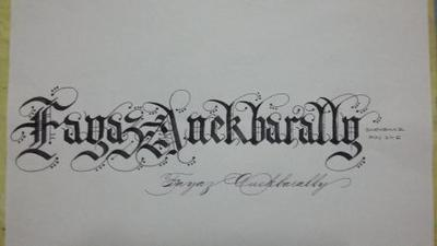 GOTHIC CALLIGRAPHY IS FUN